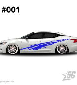 car graphic 01 decals stripe graphics drift