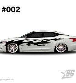 car graphic 02 decals stripe graphics slammed