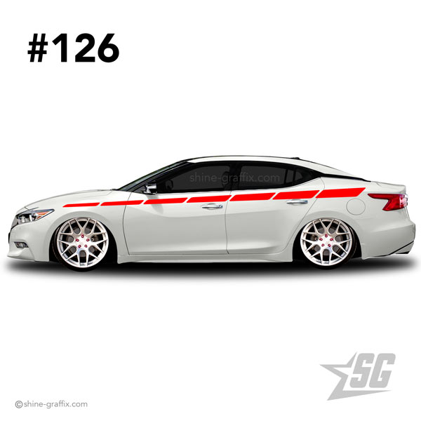 car graphic 126 decal stripe graphics Tuning