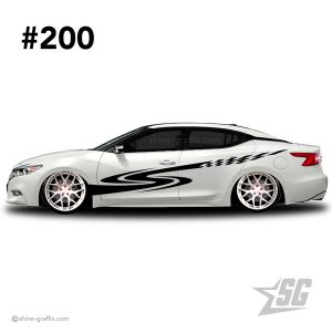 car graphic 200 decals stripe graphics racing