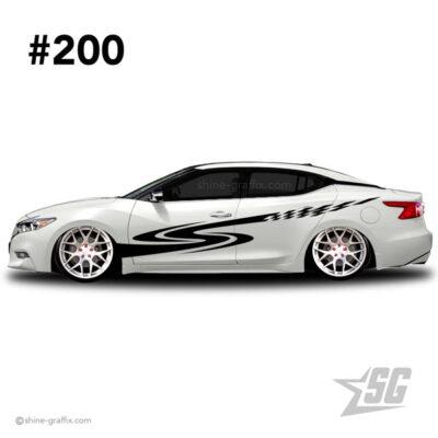 car graphic 200 decals stripe graphics racing