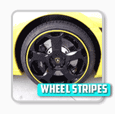 Vehicle Wheel stripes installation