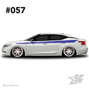 car graphic 57 decals stripe graphics JDM side