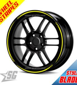 Wheel rim stripes - blade style universal