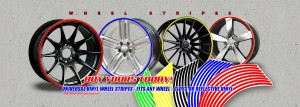 car Wheel rim stripes banner