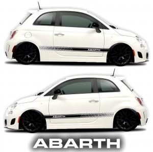 Fiat Abarth 500 rocker panel graphic decal black