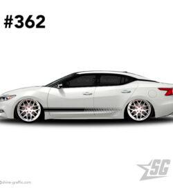 car graphic 362 decals stripe graphics rocker panel