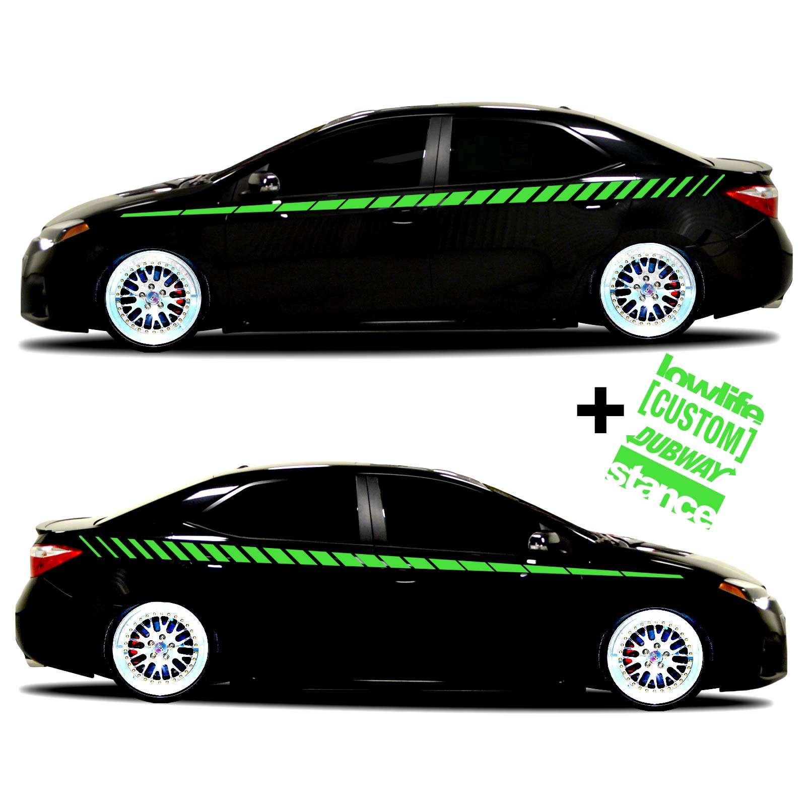 car vinyl graphics 20 Lime green