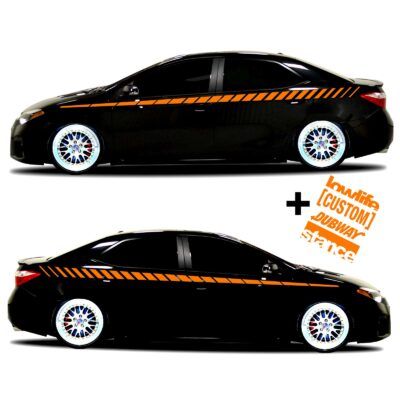 car vinyl graphics 20 orange