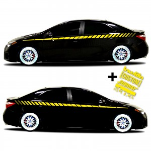 car vinyl graphics 20 yellow