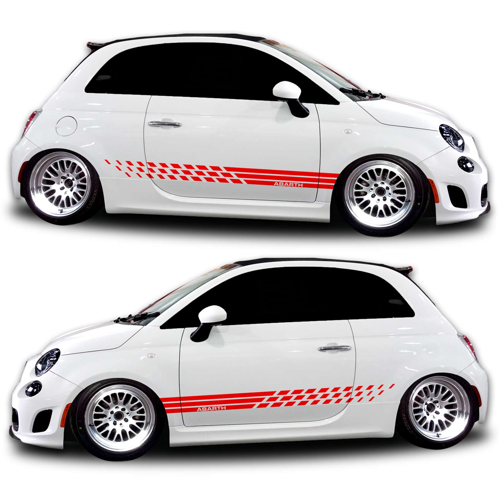 Fiat 500 Abarth Graphics Rocker Panel 381 Red