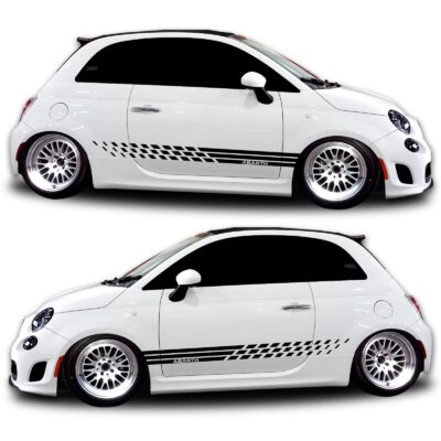 Fiat 500 abarth Graphics rocker panel 381 black
