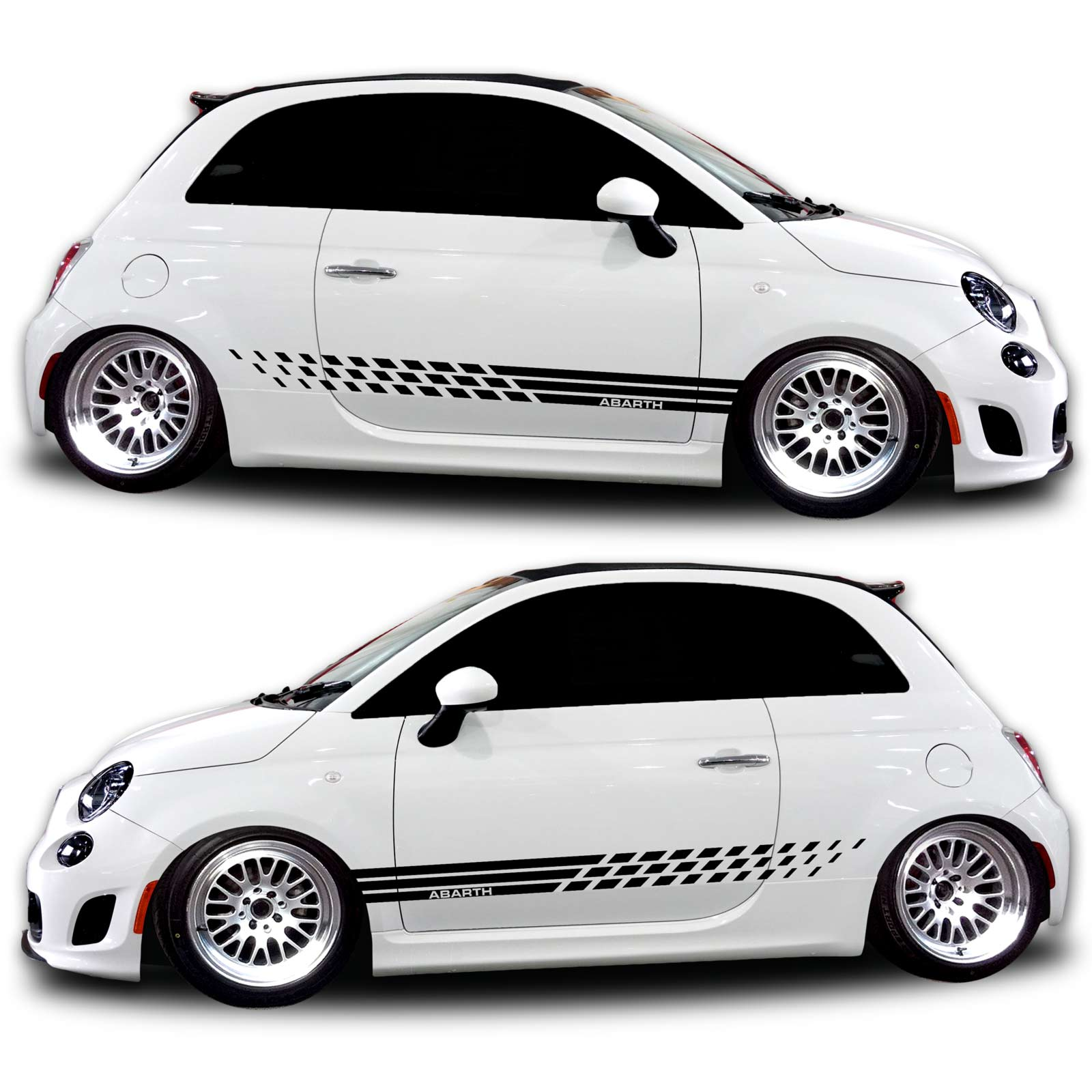 Fiat Abarth Rocker Panel Graphic Kit Shine Graffix Com