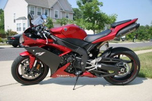 Dark red bike