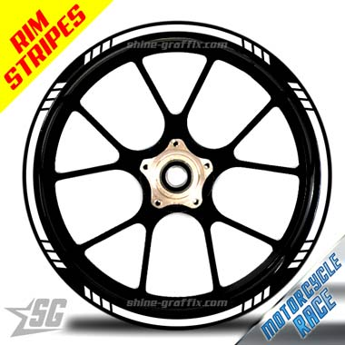 Wheel Rim Stripe Race Bike for any motorcycle like a decal
