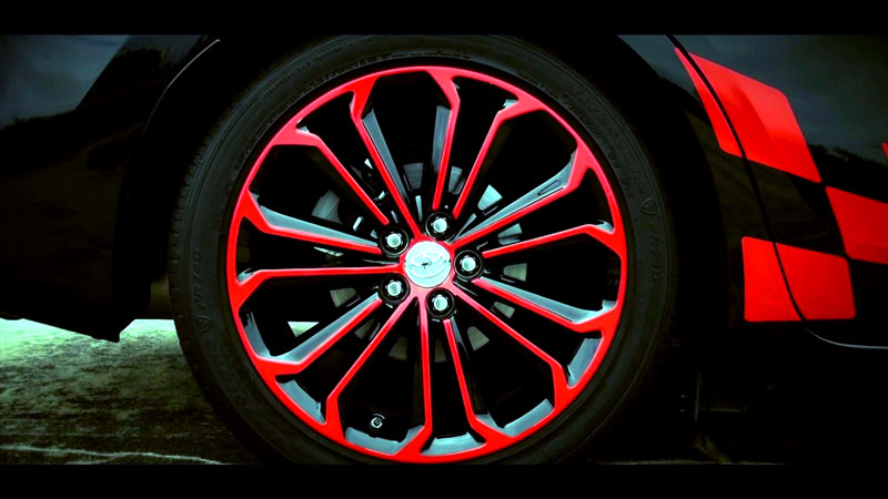 "2014 - 2015 Toyota Corolla S 17"" wheel decal color Change"