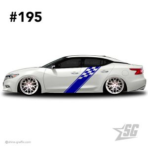 car graphic 195 decals stripe graphics racing flag