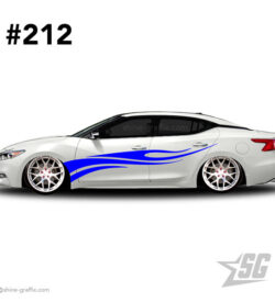 car graphic 212 decal stripe graphics JDM