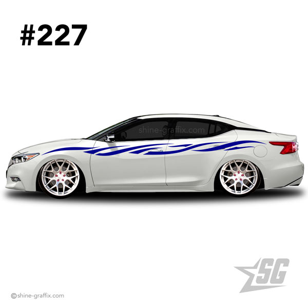 car graphic 227 decals stripe graphics lower
