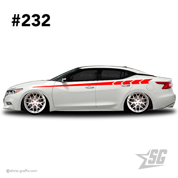car graphic 232 decal stripe graphics stance