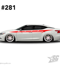car graphic 281 decals stripe graphics static muscle
