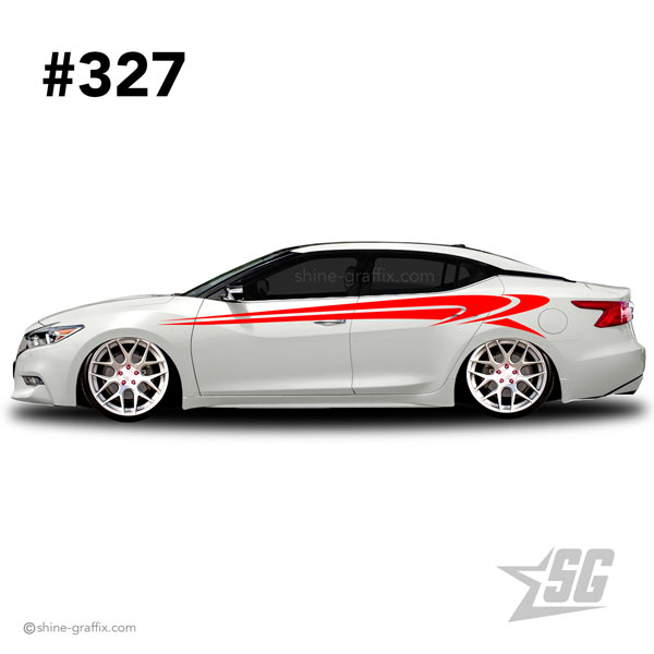 car graphic 327 decals stripe graphics tuner