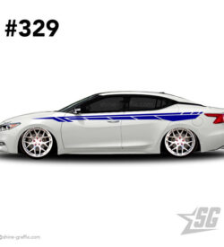 car graphic 329 decals stripe graphics tuning side