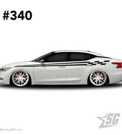 car graphic 340 decals stripe graphics race team