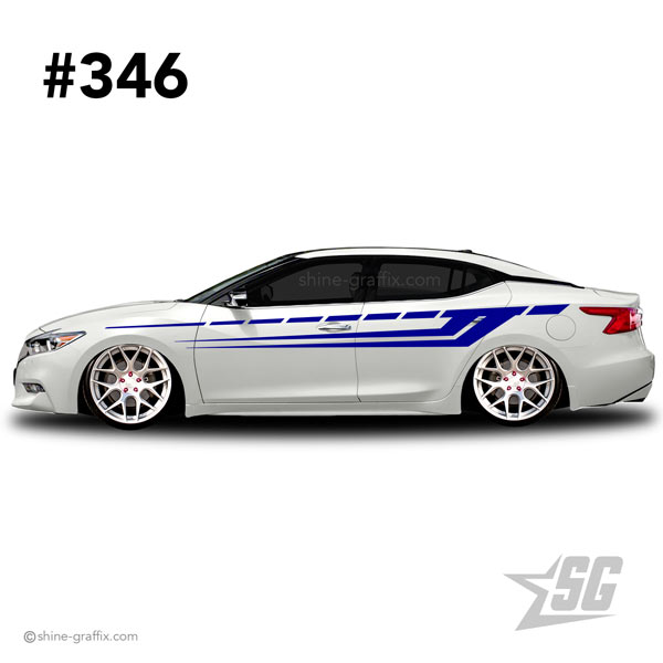 car graphic 346 decals stripe graphics tribal side
