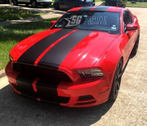 Universal 12 inch wide stripes Mustang lemans style side