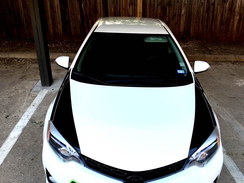 Toyota Corolla hood stripes top