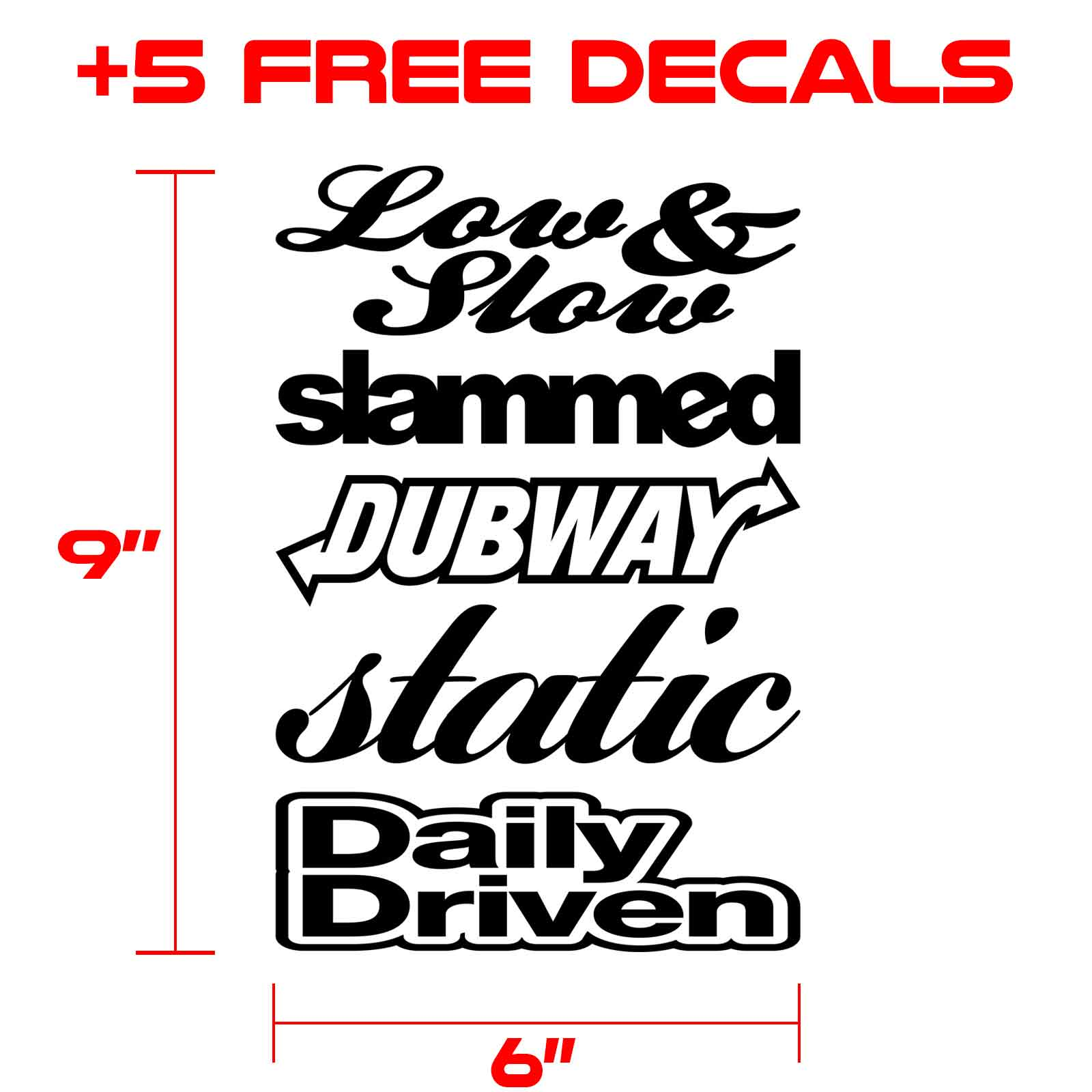 decals kit for graphics 126 black
