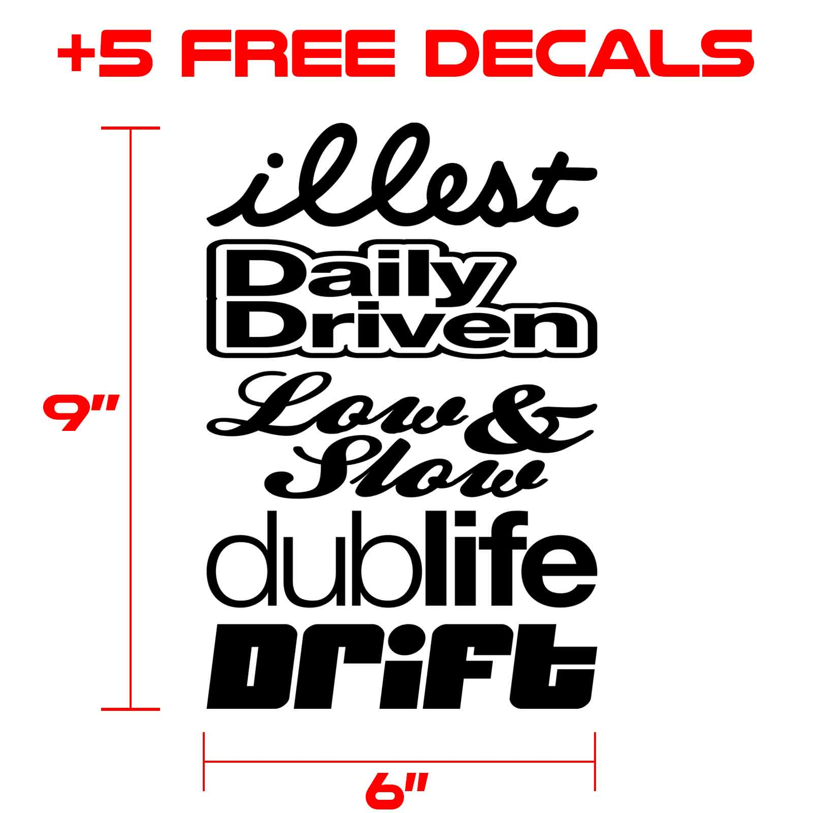 decals kit for graphics 002 black