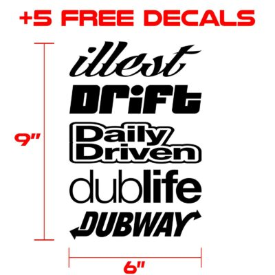 decals kit for graphics 338 black