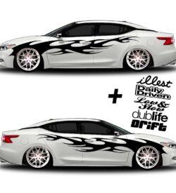 car vinyl graphics 002 black