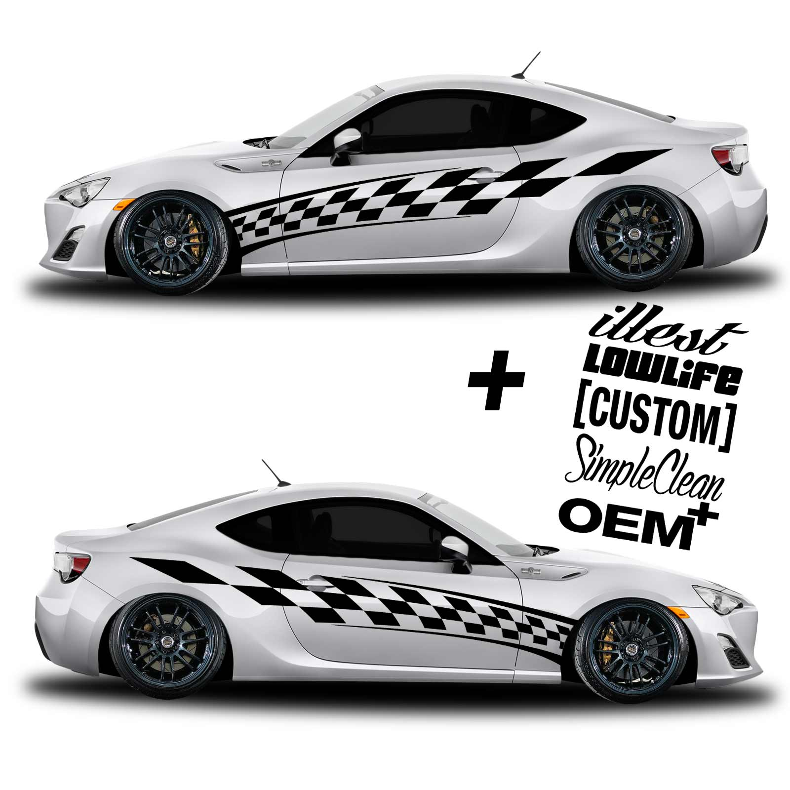 Car Graphic Racing Flag Free Decals Shinegraffixcom - Custom vinyl graphics for cars