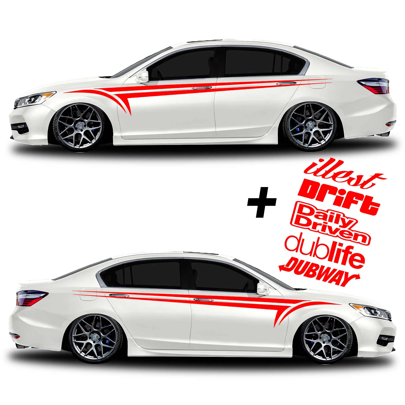 1 set car graphics 2 side decal body sticker for universal cars
