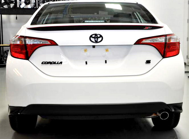 Corolla xsp spoiler graphic rear