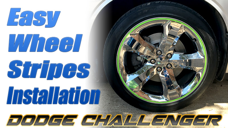 easy wheel stripes installation VIDEO Dodge Challenger