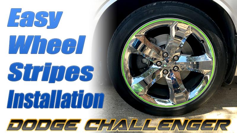 easy wheel stripes installation VIDEO Dodge Challenger