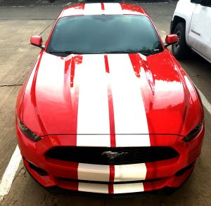 Mustang GT Racing Stripes front