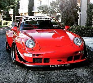 RWB Porsche red
