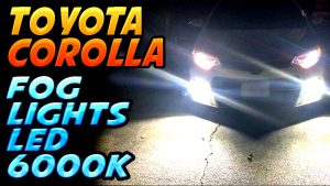 toyota corolla led foglights