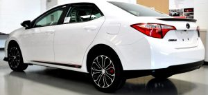 Toyota Corolla Xsp side graphics rear view
