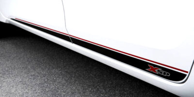Toyota Corolla Xsp side graphics closeup