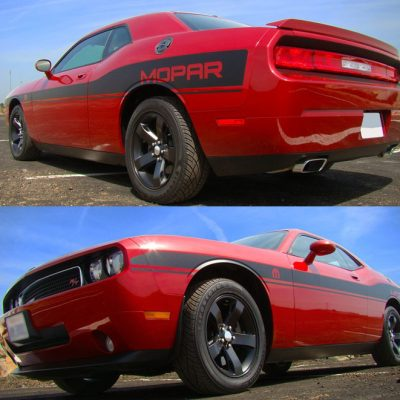 Dodge Challenger Mid Body Wide Mopar Replica Side Stripes graphics #405