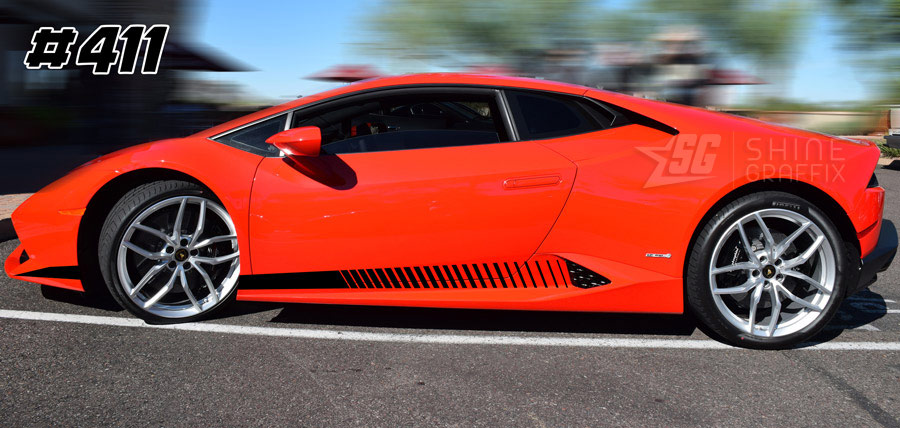 Lamborghini Huracan LP 610 LP 580 side graphics 411