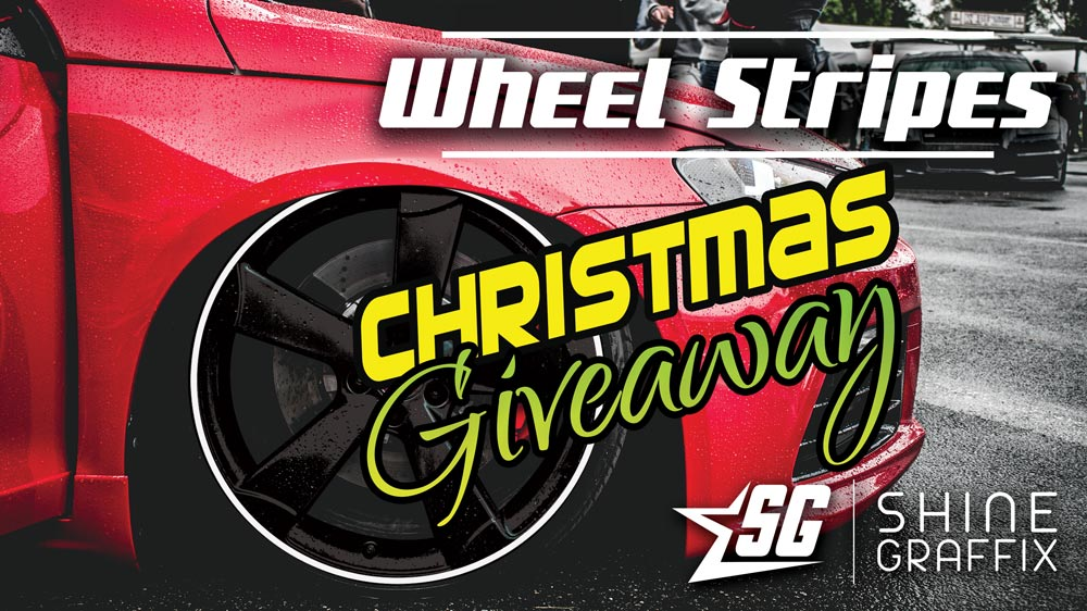 Christmas Giveaway wheel stripes and car graphics