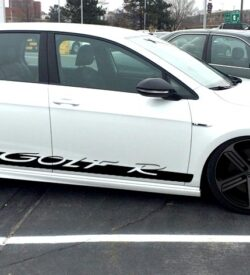 Golf R VW side graphics rocker panel stripe