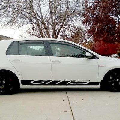 VW GTI RS side graphics rocker panel stripe